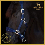 SD® Diamond Edition Crystal Headcollar - Montana dark navy blue - Anatomic Headcollar