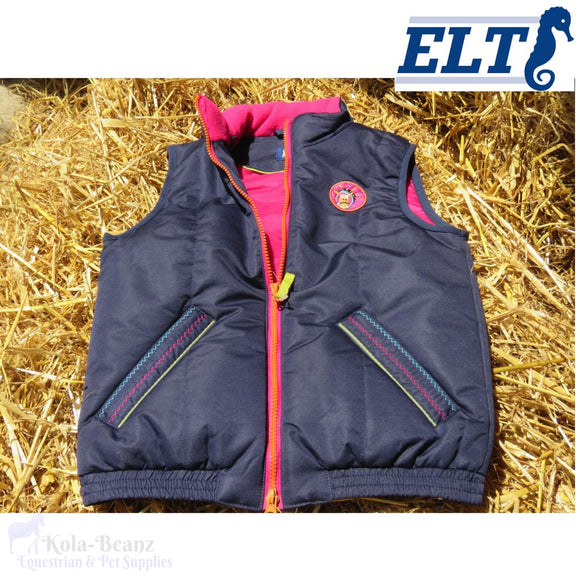 Elt Girls Blue/pink Gillet - Kids Clothing