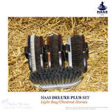 Haas D-Plus Brush Set For Light Bay/chestnut Horses - Haas Grooming Products