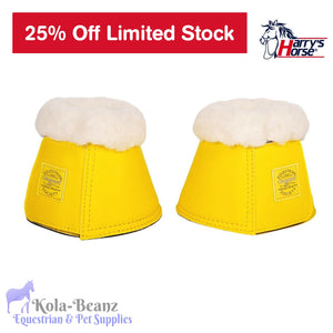 Harrys Horse Bell Boots - Empire Yellow - Over reach Boots