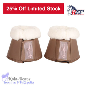 Harrys Horse Bell Boots - Iron - Over reach Boots