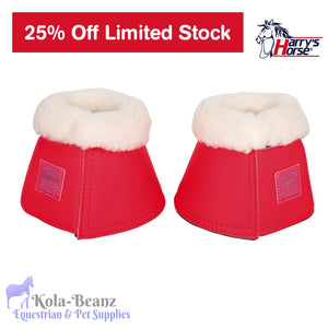 Harrys Horse Bell Boots - Rouge Red - Over reach Boots