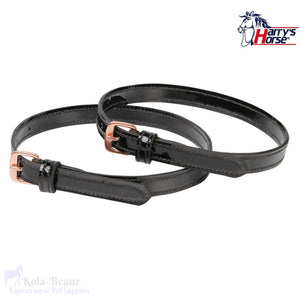 Harrys Horse Black And Rose Gold Spur Straps - Spur Straps