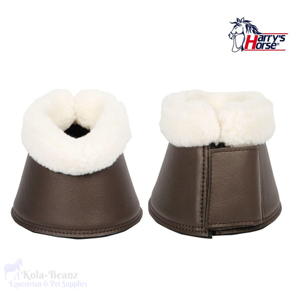 Harrys Horse Flextrainer Bell Boots - Brown - Over Reach Boots