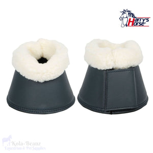 Harrys Horse Flextrainer Bell Boots - Navy - Over Reach Boots