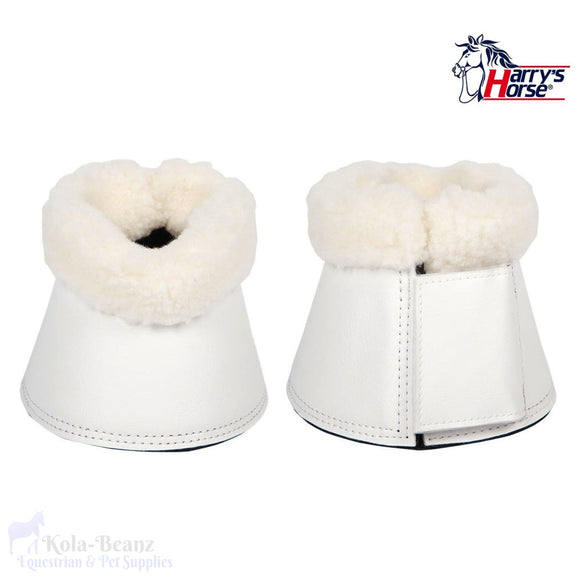 Harrys Horse Flextrainer Bell Boots - White - Over Reach Boots