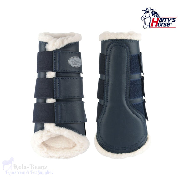 Harrys Horse Flextrainer Protection Boots - Navy - Horse Brushing Boots