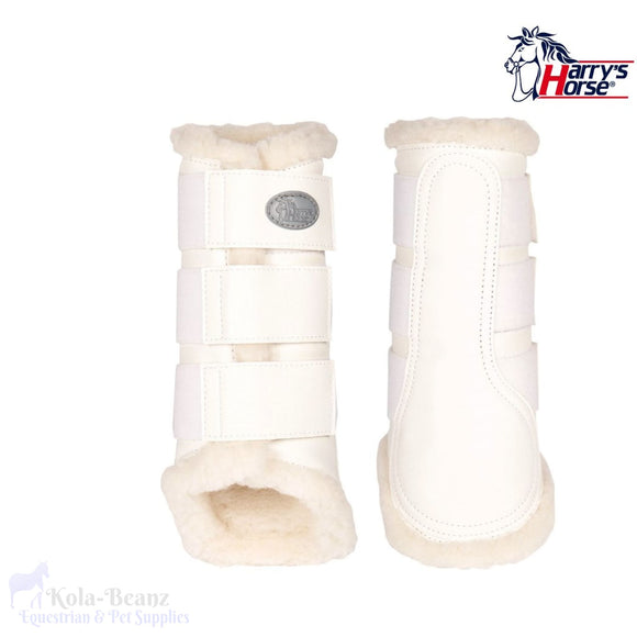 Harrys Horse Flextrainer Protection Boots - White - Horse Brushing Boots