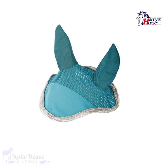 Harrys Horse Fly Veil - Turquoise/silver - Horse Fly Masks