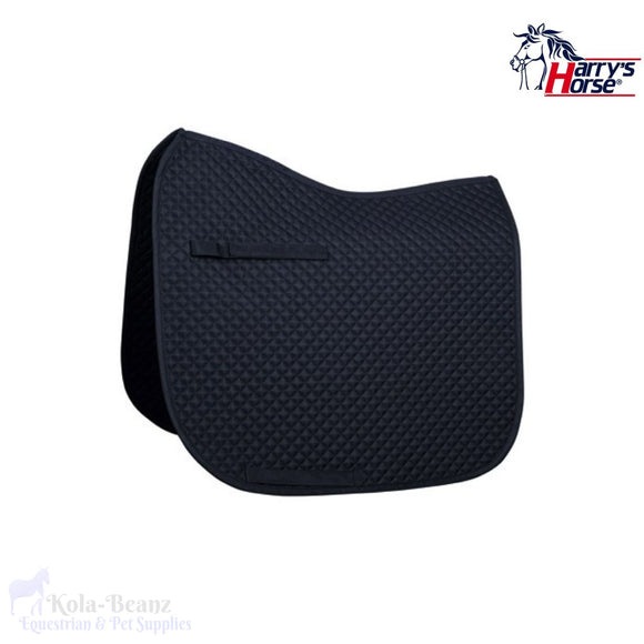 Harrys Horse Quilted Navy Dr Saddle Pad - Saddlecloths Pads