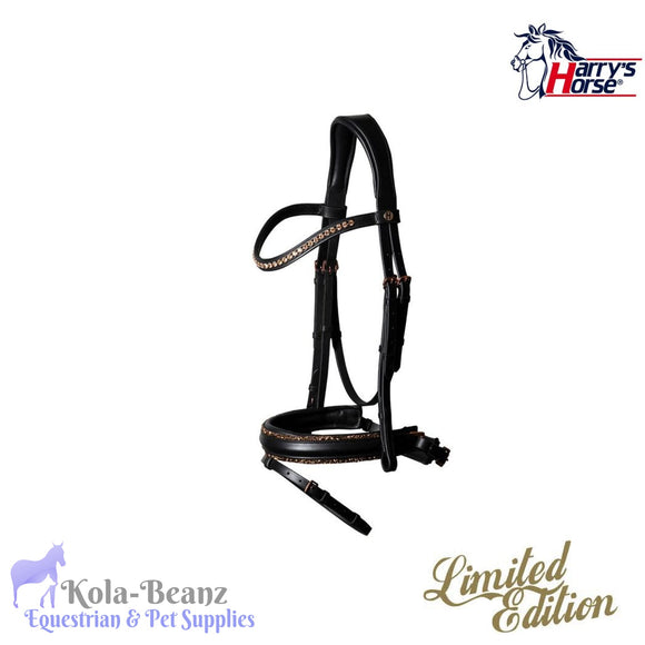 Harrys Horse Rose Gold Bridle - Anatomic Bridles