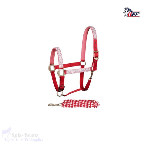 Harrys Horse Rose Granite Headcollar Set - Head Collar Set
