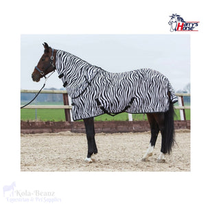 Harrys Horse Zebra Fly Rug With Neck - Fly Rug
