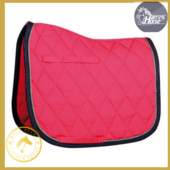 Harrys Horse Fuchsia/Navy VZ Saddle Pad - Saddlecloths Saddle Pads