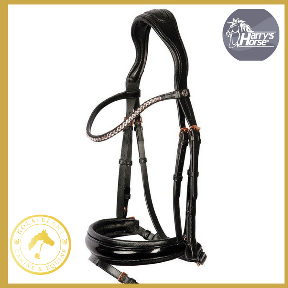 Harrys Horse Rose Gold & Patent Bridle - Anatomic Bridles