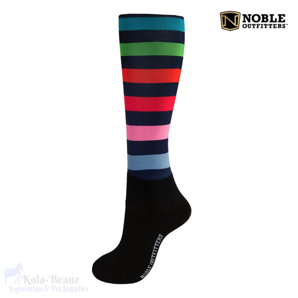Noble Outfitters Over The Calf Peddies - Stripe - Ladies Socks