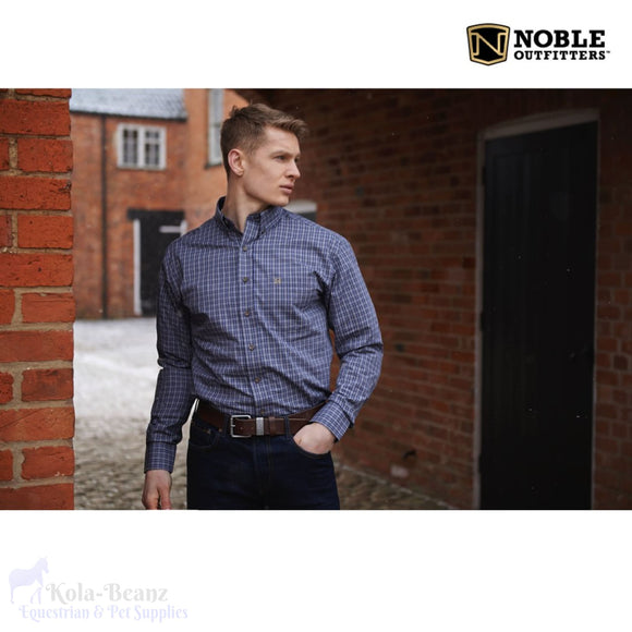 Noble Outfitters Traditional L/s Shirt - Blue - Mens Shirts