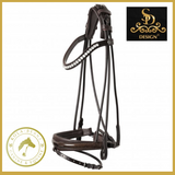 Mystery Rolled Bridle - Brown
