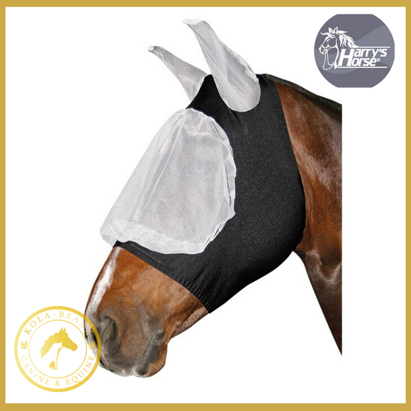 Harrys Horse Full Mesh Fly Mask With Lycra - Horse Fly Masks