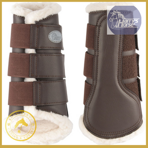 Harrys Horse Flextrainer Protection Boots - Brown - Horse Brushing Boots