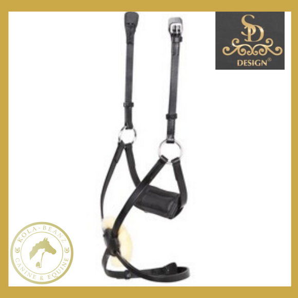 SD Design Grackle Noseband - Black - Anatomic Bridles