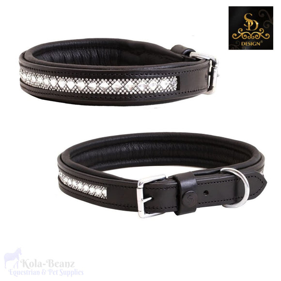 Sd® Azzaro Gel Dog Collar - Black/crystal - Dog Collars