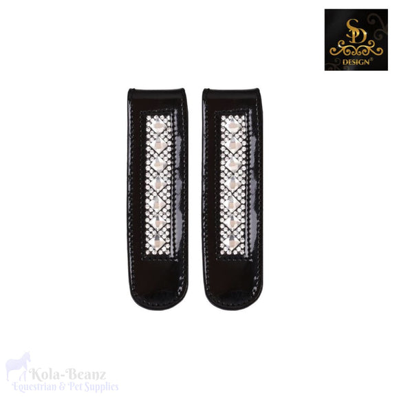 Sd® Boot Clip Black Patent Crystal - Competition Accessories