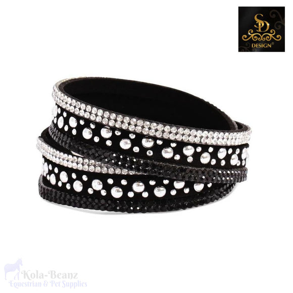 Sd® Crystal Double Bracelet - Black - Ladies Bracelet