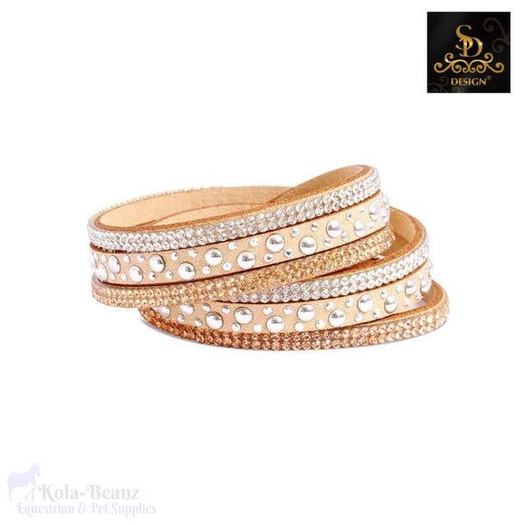 Sd® Crystal Double Bracelet - Camel - Ladies Bracelet