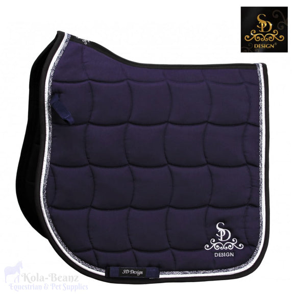 Sd® Dr Glitter Saddle Pad - Navy - Saddlecloths Saddle Pads