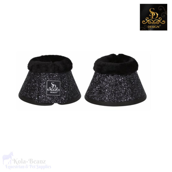 Sd® Glitter Bell Boots - Black - Over Reach Boots