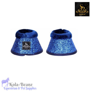 SD® Glitter Bell Boots - Navy - Over reach Boots