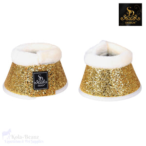 Sd® Glitter Bell Boots - White/gold - Over Reach Boots