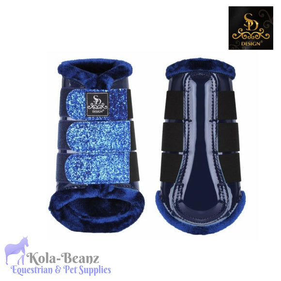 SD® Glitter Brushing Boots - Navy (set of 4) - Horse Brushing Boots