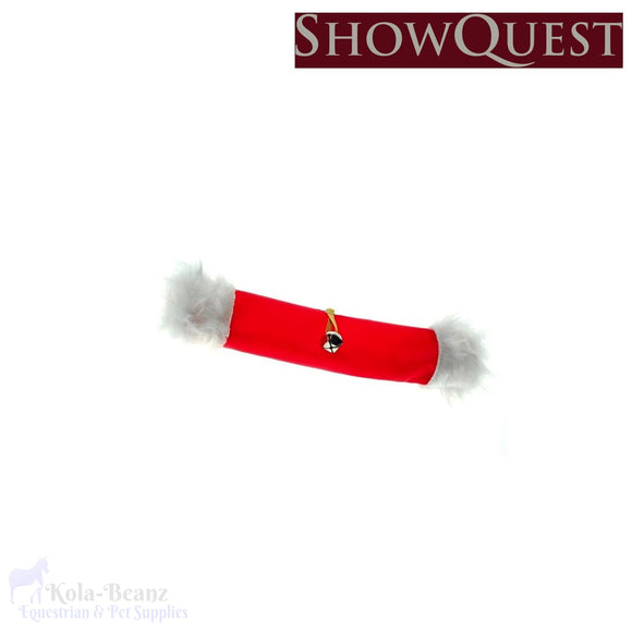 Showquest Christmas Noseband Cover - Christmas