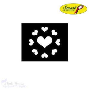 Smart Grooming Hearts Quarter Mark Stencil - Marker