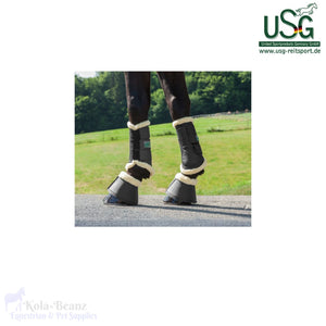 Usg Brushing Boots With Fur - Horse