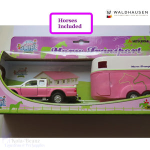 Waldhausen Horse Trailer Play Set Pink - Kids Toys