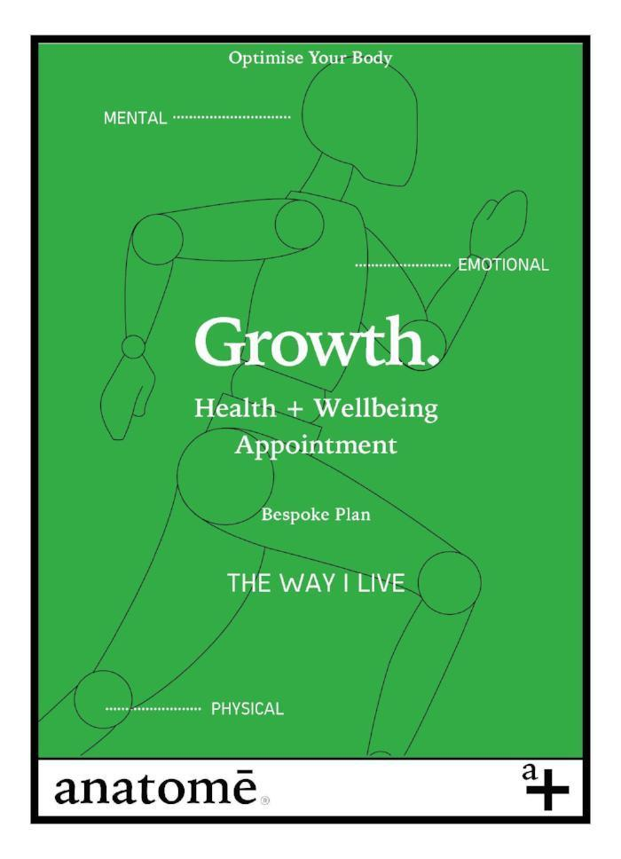 Growth - Live your way+ Nutrition  Gift Certificate - anatomé