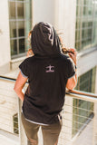 Jesus. Sweat. Coffee. Short Sleeve Hoodie - Cross Training Couture