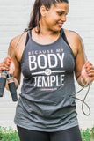Because My Body Is A Temple High Neck Tank - Cross Training Couture