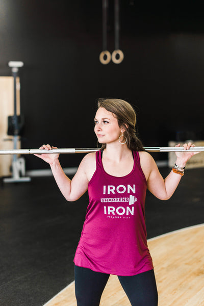 Iron Sharpens Iron Tank - Cross Training Couture