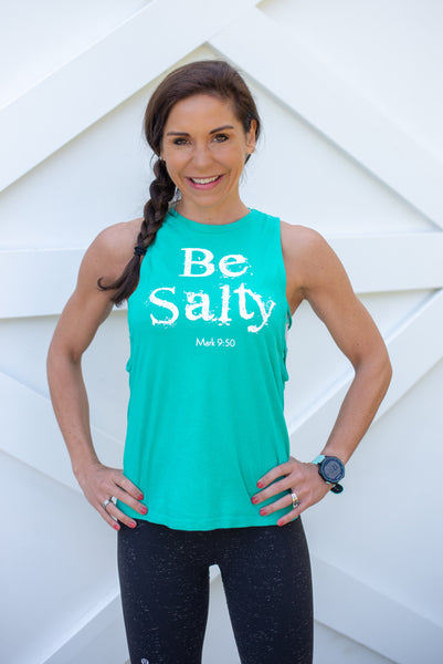 Be Salty Crisscross Side Tank - Cross Training Couture