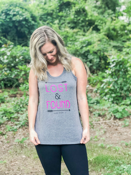 Lost & Found Grey Racerback