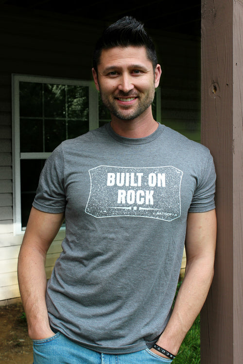 PRE-ORDER ONLY Men's Built On Rock T-Shirt LIMITED TIME