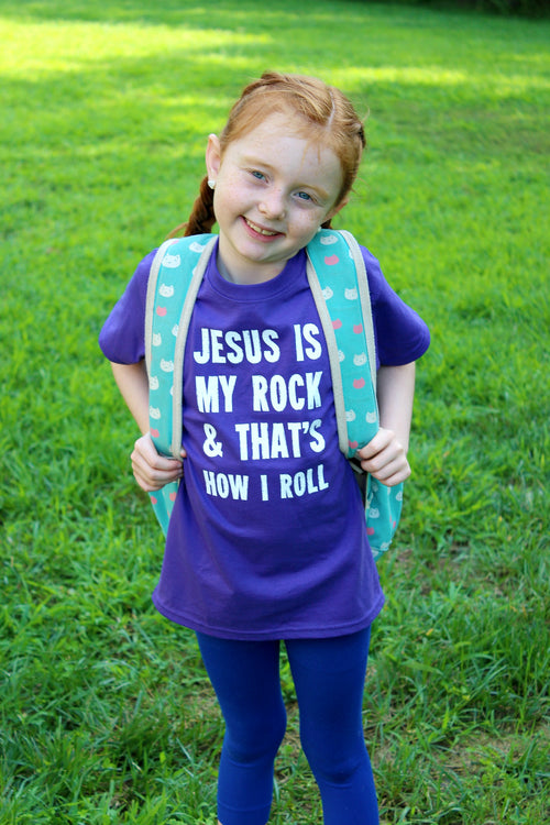 Jesus Is My Rock Big Kids Tee PRE-ORDER