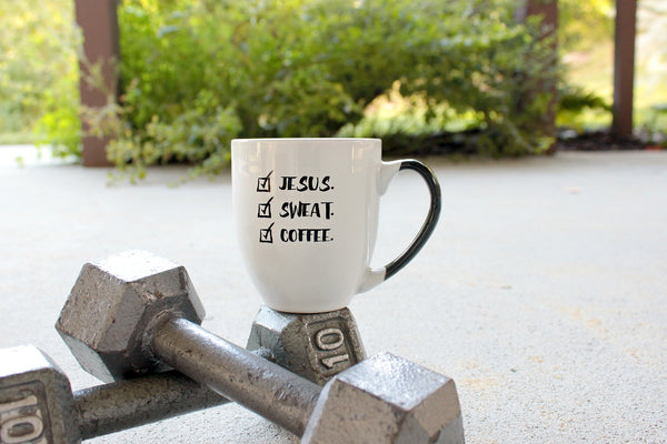Jesus, Sweat, Coffee Mug - Cross Training Couture