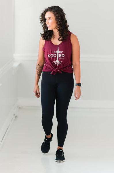 Rooted Tie Front Tank - Cross Training Couture