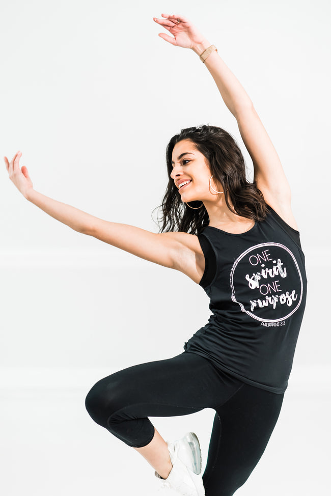 One Spirit One Purpose Tie Back Tank - Cross Training Couture