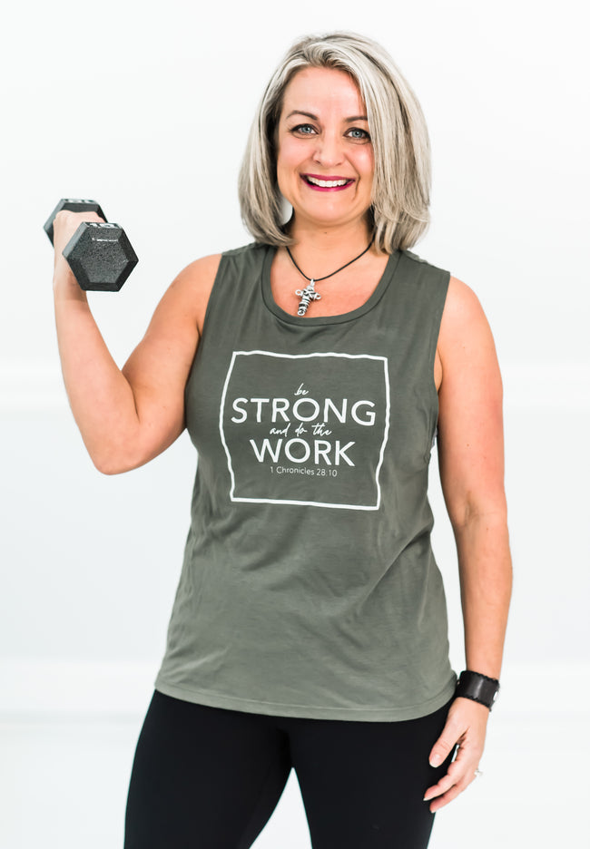 Be Strong and Work Muscle Tank - Cross Training Couture